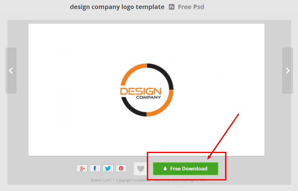 design company logo template   Download free PSD